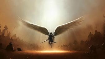 Diablo iii tyrael archangel wallpaper