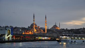 Eminonu istanbul turkey cityscapes galata bridge wallpaper