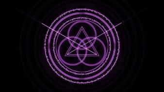Fantastic dark digital art magic circles wallpaper