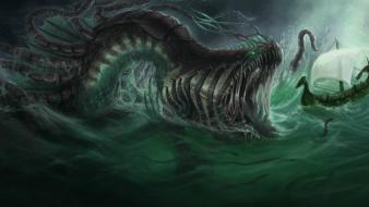 Fantasy art creatures sea wallpaper