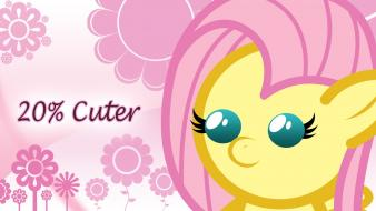 Flowers pink hair my little pony fluttershy wallpaper