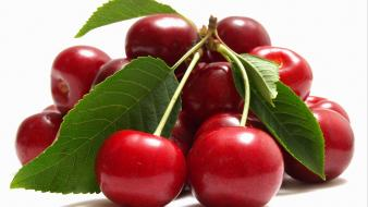 Fruits food cherries wallpaper