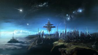 Futuristic science fiction artwork wallpaper