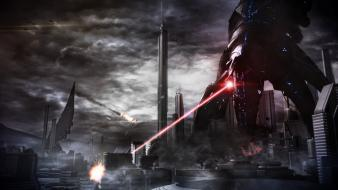Giant robo cities reapers game art lasers Wallpaper