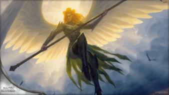 Goddess magic: the gathering sigarda angels card game wallpaper