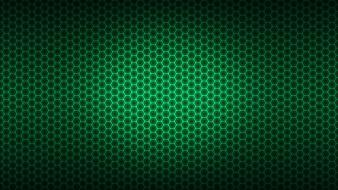 Green honeycomb background wallpaper