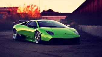 Green lamborghini murcielago wallpaper