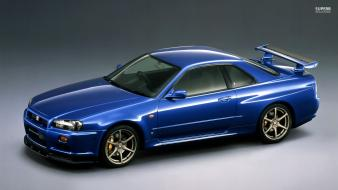 Gt gt-r r34 blue paint exotic car wallpaper
