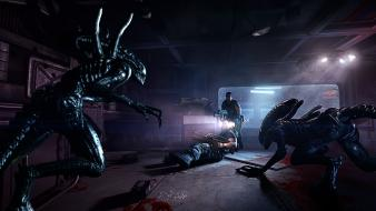 Horror science fiction alien wallpaper