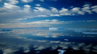 Icebergs antarctica skyscapes reflections bing sea wallpaper