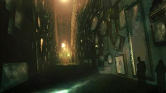 John dickenson artwork digital art fantasy hallway wallpaper