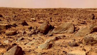 Landscapes outer space sand planets desert mars rocks Wallpaper
