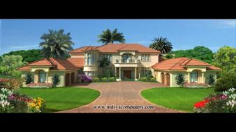 Mansion renders visualization exterior wallpaper