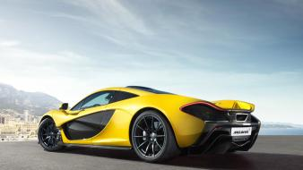 Mclaren p1 girls with cars supercar yellow Wallpaper