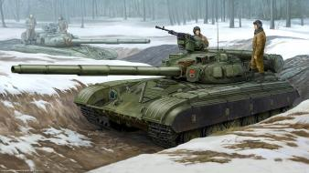 Military tanks artwork warsaw pact t-64 wallpaper