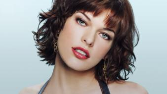 Milla jovovich actress brunettes fashion green eyes wallpaper