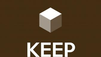 Minecraft keep calm and wallpaper