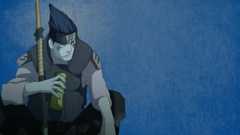 Naruto: shippuden akatsuki hoshigaki kisame blue background yoshairo wallpaper