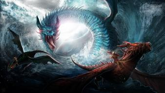 Ocean dragons sea wallpaper