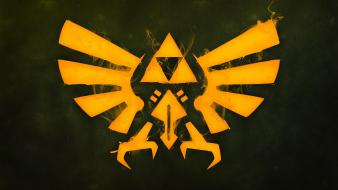 Of zelda green triforce video games yellow wallpaper