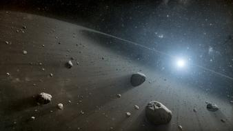 Outer space stars asteroids wallpaper