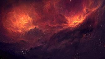 Outer space stars galaxies nebulae post tyler young wallpaper