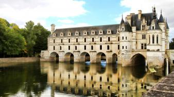 Paris castles france europe reflections wallpaper