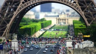 Paris cityscapes buildings tilt-shift wallpaper