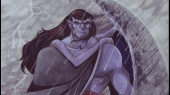 Rain artwork goliath gargoyles wallpaper