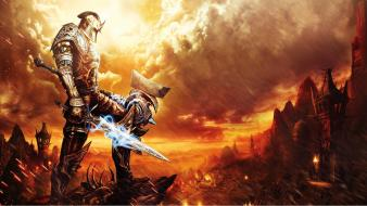 Reckoning kingdoms of amalur swords torch game wallpaper