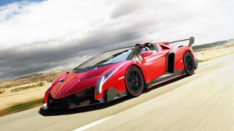 Red lamborghini veneno wallpaper