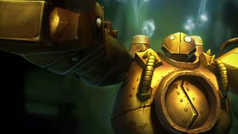 Robots league of legends fantasy art blitzcrank Wallpaper