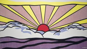 Roy lichtenstein artwork paintings pop art sunrise wallpaper