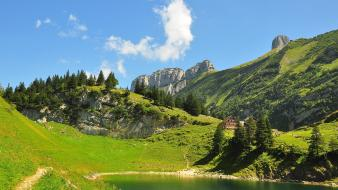 Switzerland lakes landscapes mountains nature wallpaper