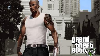 Theft auto posters v screens carl johnson wallpaper