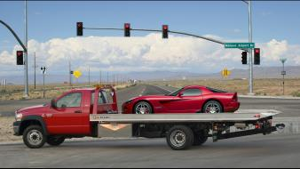 Trucks highways dodge viper red cars wallpaper
