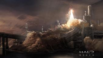 Video games halo reach artwork rocket game wallpaper