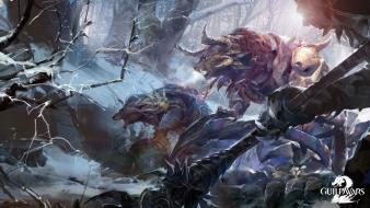 Video games mmo guild wars 2 charr wallpaper