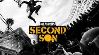 Video games son infamous playstation 4 second wallpaper