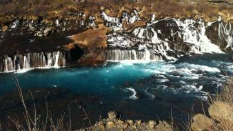 Water landscapes nature lava iceland waterfalls rivers wallpaper