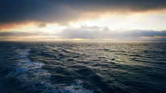 Water ocean horizon waves rough waterscapes sea oceanscape wallpaper