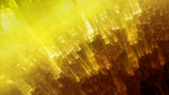 Yellow lights abstract wallpaper