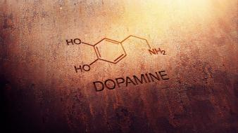Abstract caffeine chemistry digital art dopamine wallpaper