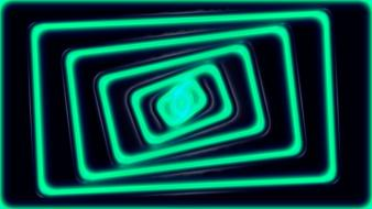 Abstract neon lights bright simple perspective wallpaper