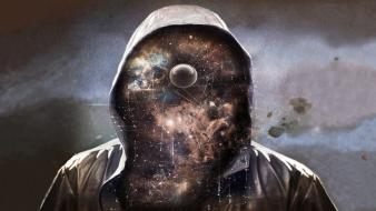 Abstract outer space stars hood mr. universe Wallpaper
