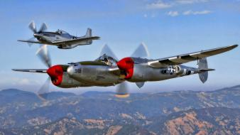 Aircraft p-51 lancaster mustang wallpaper
