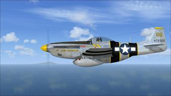 Aircraft p-51 mustang fighter wallpaper