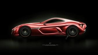 Alfa romeo 12c gts design red wallpaper