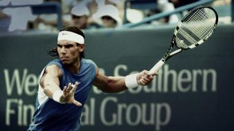 Atp rafael nadal blue playing sports wallpaper