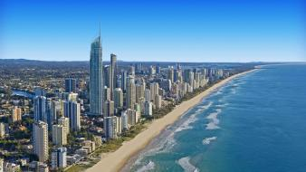 Australia queensland cityscapes skyline skyscrapers wallpaper